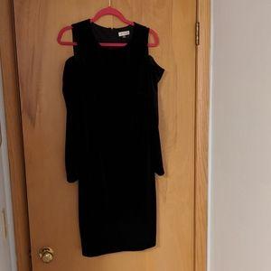 Calvin Klein Velvet Cold Shoulder Dress